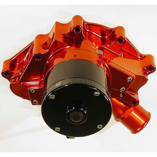 Meziere Wp311R Red Billet Hi-Flow Electric Water Pump For Small Block Ford